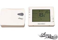 Термостат з дисплеєм прогр. (7 днів) радіо пара