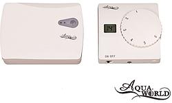 Термостат з дисплеєм не прогр. (7 днів) радіо пара
