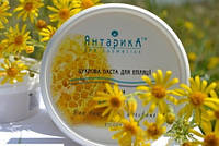 Шугаринг 200 гр сахарная паста Янтарика мед средняя sv