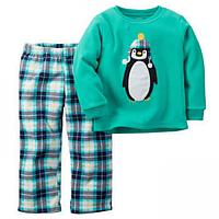 Флисовая пижама для мальчика Carters Пингвинчик
