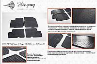 Dacia Sandero 2007-2013 гг. Резиновые коврики (4 шт, Stingray) Budget - с запахом резины