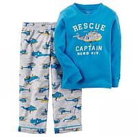 Пижама для мальчика с флисом Carters Вертолет, Размер 6, Размер 6