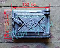 Дверка чугунная сажетруска прочистная (100х140) №2, фото 1