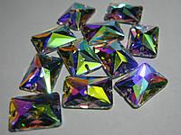 Стразы пришивные Asfour Прямоугольник 18мм. Crystal AB