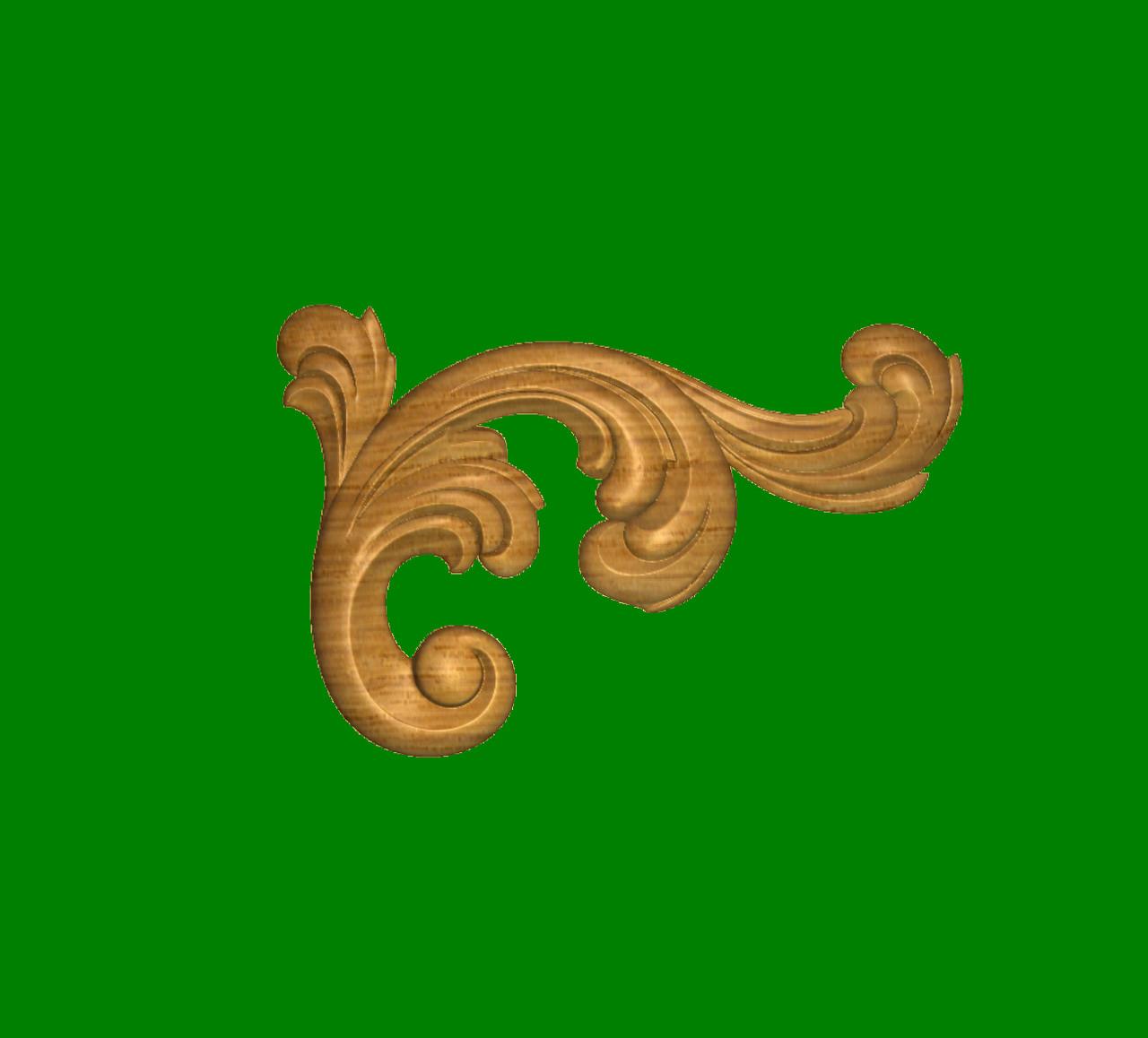 Код ДУ12. Деревянный резной декор для мебели. Декор угловой