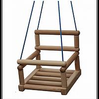 Подвесная деревянная качеля  181