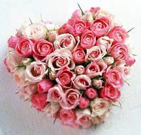 Композиция - сердечко из роз