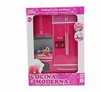 Мебель для куклы кухня, холодильник, плита, шкаф, батар., свет, звук, в кор.27,0*9,5*35,0см