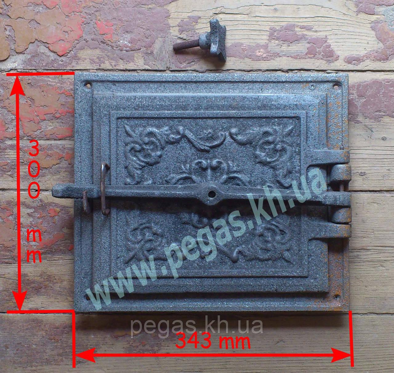 Дверка + отражатель, чугунное литье (300х343 мм) грубу, барбекю, мангал, печи