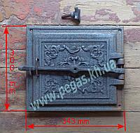 Дверка + отражатель, чугунное литье (300х343 мм), фото 1