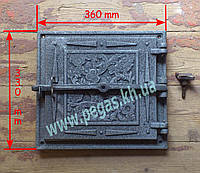 Дверка чугунное литье (330х360 мм)