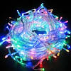 Гирлянда 100 светодиодов силиконовый шнур мульти