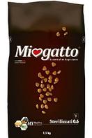 Сухой корм Миогатто для стерилизованных котов и кошек 0.6, 1,5 кг