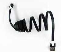 Кабель удлинитель USB-MICRO USB 1м  плоский Black