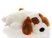 """Подушка-игрушка  Собачка """"Шарик""""45 см.белый №1,ПШ4-9 (игрушка щенок)"""