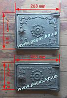 Дверки чугунные комплект №2 (топочная+поддувальная), фото 1