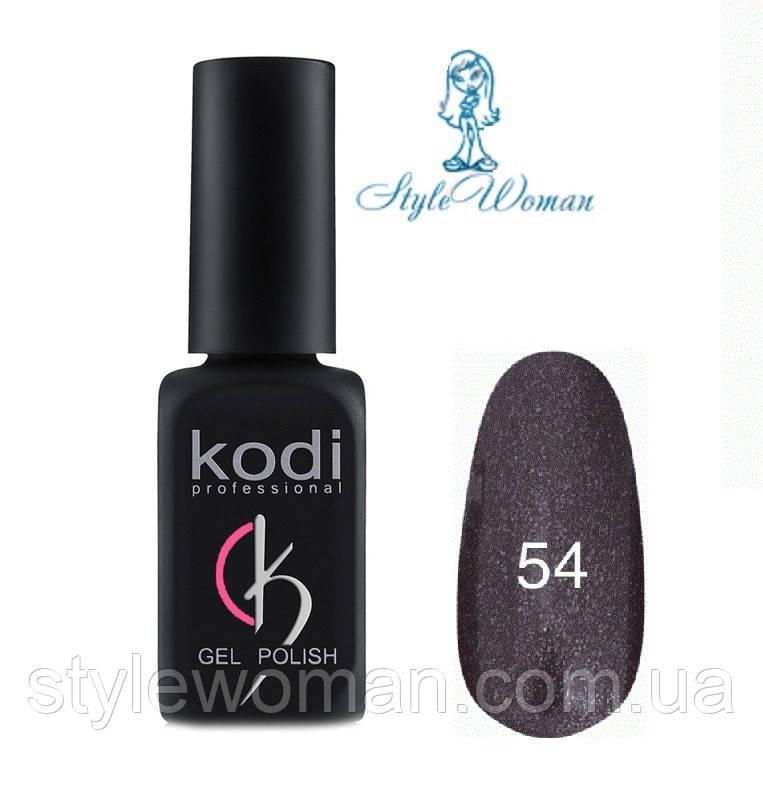 Kodi professional гель лак Коди 54 черный перламутр 8мл