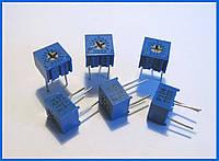Резистор подстроечный, 3362Р, 1 кОм.