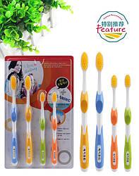 Набір зубних щіток з бамбуковим вугільним напиленням 2шт+набір 2шт