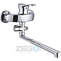 Смеситель для ванны длинный гусак, Z63-EYB ZEGOR (TROYA), фото 1