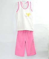 """Гр КП-111 """"14"""" /р.122/ /розовый/ Комплект для девочки /борцовка с вышивкой+бриджи/"""