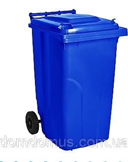 Бак для мусора на колесах 240 л Алеана, синий