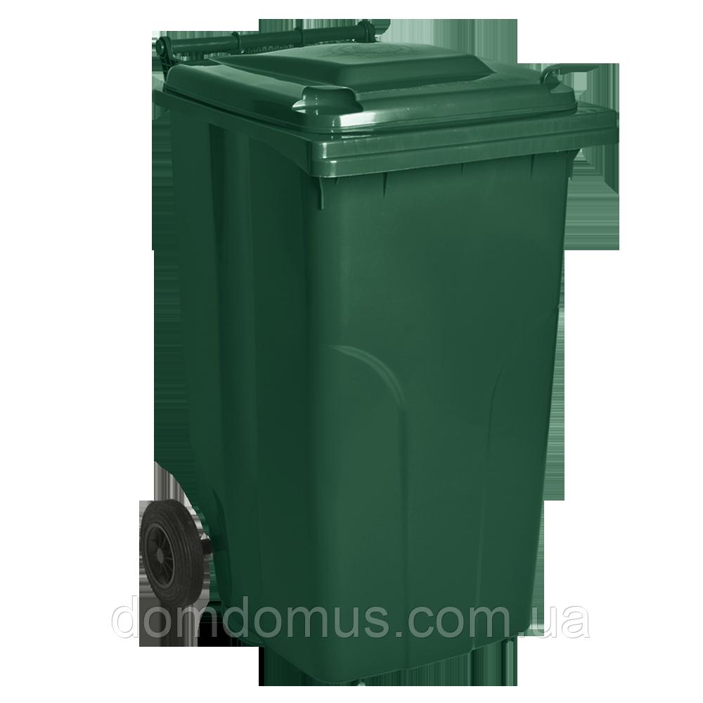 Бак для мусора на колесах 240 л Алеана, зеленый