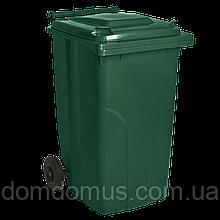 Бак для сміття на колесах 240 л Алеана, зелений
