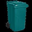 Бак для мусора на колесах 240 л Алеана, зеленый, фото 2