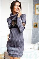 Откровенное соблазнительное платье. Цвет светло-баклажановый.