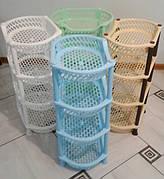 Этажерки пластиковые