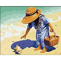 Картина по номерам Ракушка на побережье в коробке