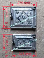 Дверки чугунные комплект №3 (топочная+поддувальная), фото 1