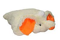 Подушка-игрушка  Слон, 55 см.персиковый №2,ПС6-9 (мягкая игрушка подушка слон)