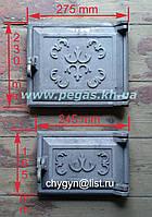 Дверки чугунные комплект №5 (топочная+поддувальная), фото 1