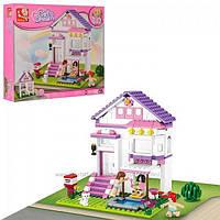 Конструктор SLUBAN Розовая мечта Загородный дом, 291 деталей
