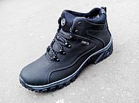 Зимние кожаные мужские кроссовки Ессо gore tex