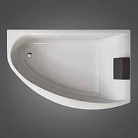 Ванна MIRRA  асимметричная 170*110 см, правая, с ножками, элементами крепления и подголовником