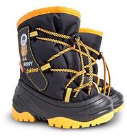 Детские зимние сапоги Demar Happy Eskimo желтый Размер:20-29
