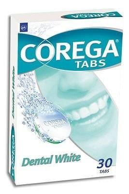 Корега Дентал Вайт отбеливающие таблетки д/протезов №30