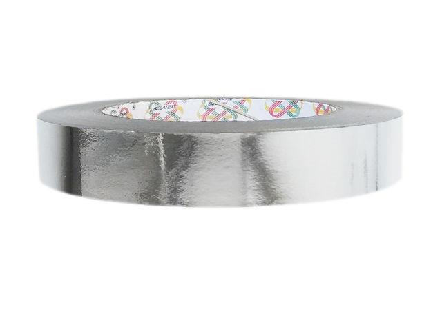Лента флористическая серебро металл  (2см х 50ярдов)
