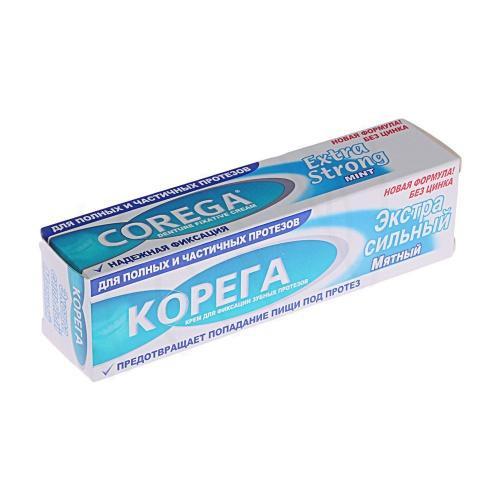 Корега Экстра Мятный вкус крем д/фиксации з/протезов 70г