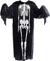 Костюм скелета (накидка) на хэллоуин