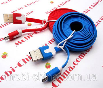Кабель USB 2.0 microUSB, плоский - 2 метри new, фото 2