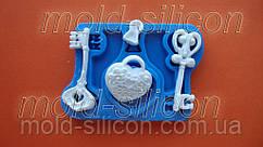 """Силиконовый молд """"Замок и ключи"""""""