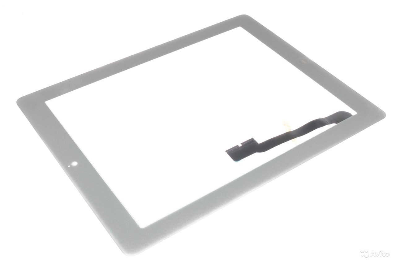 Apple iPad 3, iPad 4 белый с кнопкой Home емкостной тачскрин (сенсор)