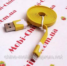 USB - кабель для iPhone 5 6, плоский - 1 метр, фото 3