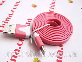 USB - кабель для iPhone 5 6, плоский - 1 метр, фото 2