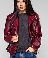 Куртка косуха экокожа | Косуха leo бордовый