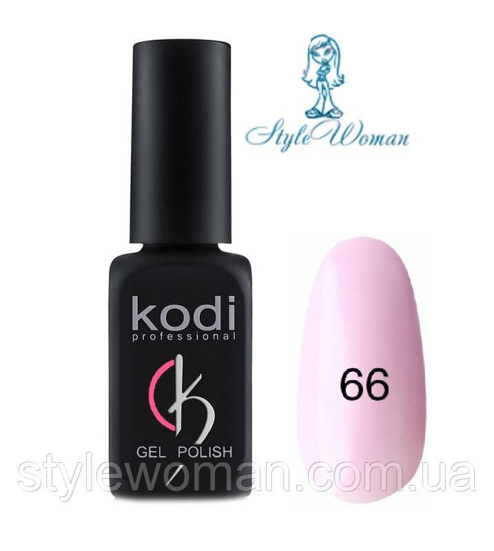 Kodi professional гель лак Коди 66 пастельно розовый эмаль 8мл